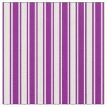 [ Thumbnail: Purple & Mint Cream Colored Stripes Pattern Fabric ]