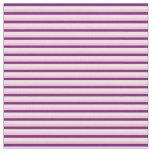 [ Thumbnail: Purple, Mint Cream & Pink Striped Pattern Fabric ]