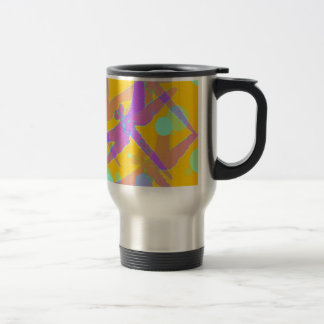 Purple Mirage dragonflies by SHARLES 15 Oz Stainless Steel Travel Mug
