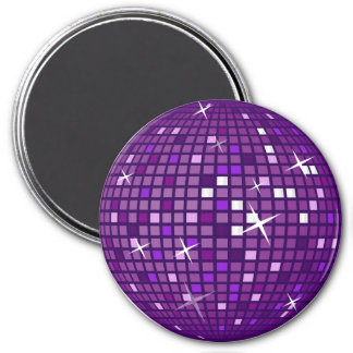 PURPLE MIRROR DISCO BALL REFRIGERATOR MAGNET