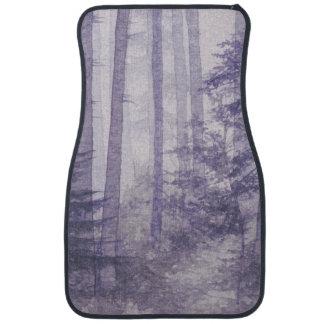 Purple Misty Forest Front Car Mat