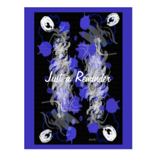 Purple Mix Abstract Reminder Post Cards