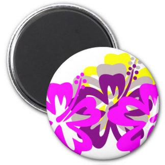 Purple Mix hibiscus Magnet