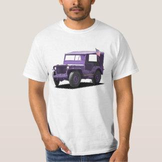 Purple MJ Military Vehicle T-Shirt