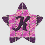 Purple Moaic Look Monogram Sticker