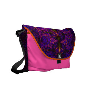 Purple Mobius Dragon Fractal Art Messenger Bag