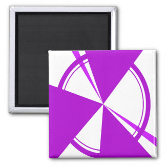 purple mod abstract 2 inch square magnet