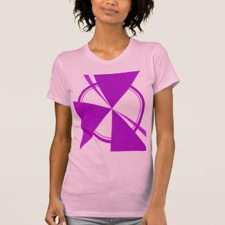 purple mod abstract tee shirt