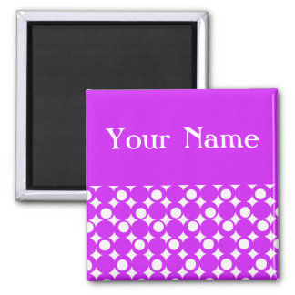 Purple Mod Ball Design @ Emporio Moffa 2 Inch Square Magnet