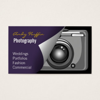 purple Mod Photoraphy, camera Business Card