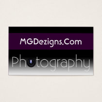 purple Mod Photoraphy, camera lens Business Card