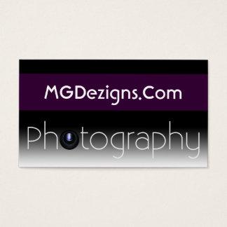 purple Mod Photoraphy, camera lens Business Card