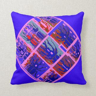 Purple Modern Art Beetles by Sharles Pillow