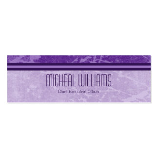 Purple Modern CEO Company Micro Business Cards