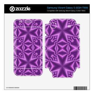 Purple modern cross pattern skin for samsung vibrant