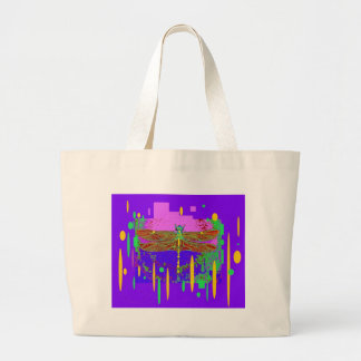 Purple Modern Dragonfly Design by Sharles Canvas Bags