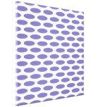 Purple Modern Oval at Emporiomoffa Gallery Wrap Canvas