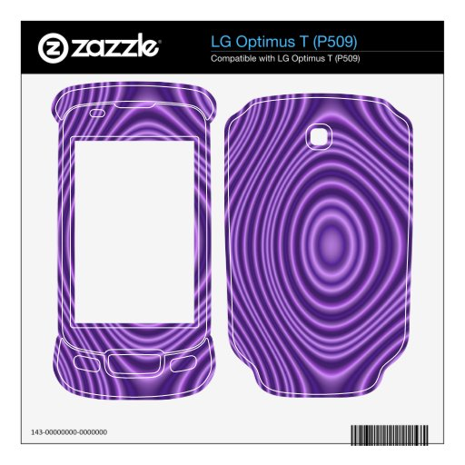 purple modern pattern decal for LG optimus t