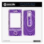 purple modern pattern HTC touch pro skin