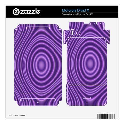 purple modern pattern motorola droid x decal