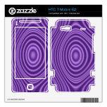purple modern pattern skins for HTC T-Mobile g2