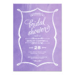 Purple Modern Script Watercolor Bridal Shower Card