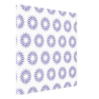 Purple Modern Sunbursts Stretched Canvas Prints