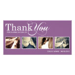 PURPLE MODERN THANKS | WEDDING THANK YOU CARD PICTURE CARD
