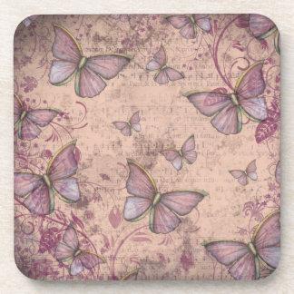 Purple Modern Vintage Style Coasters