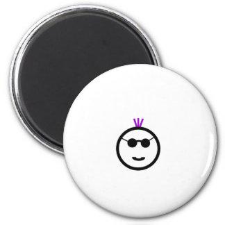 Purple MohAwk Refrigerator Magnets