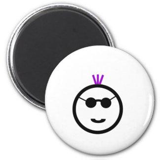 Purple mohawk refrigerator magnet