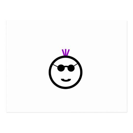 Purple mohawk postcard