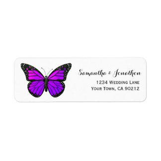 Purple Monarch Butterfly Label