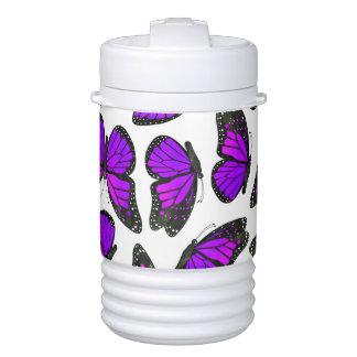 Purple Monarch Butterfly Pattern Igloo Beverage Dispenser