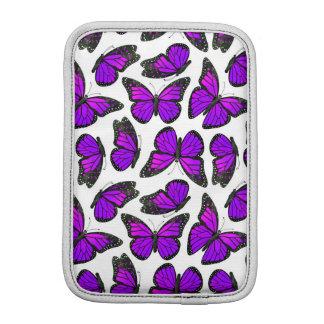 Purple Monarch Butterfly Pattern iPad Mini Sleeves