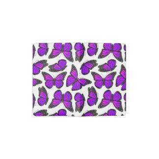 Purple Monarch Butterfly Pattern Pocket Moleskine Notebook