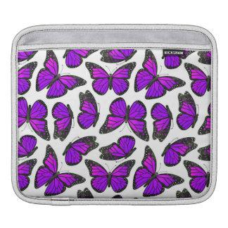 Purple Monarch Butterfly Pattern Sleeve For iPads