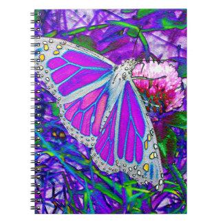 Purple Monarch Notebook