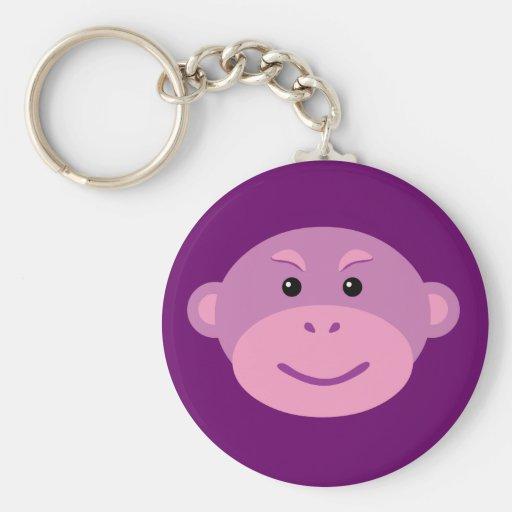 Purple Monkey Keychains