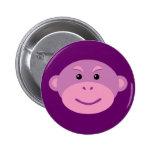 Purple Monkey Pinback Buttons