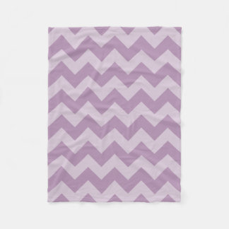 Purple Monochromatic Chevron Fleece Blanket