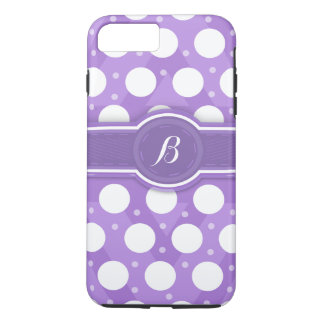 Purple Monogram(B) Polka Dots iPhone 7 Case