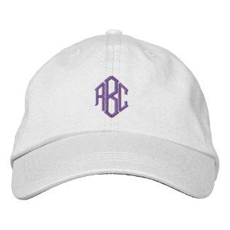 Purple Monogram Embroidered Baseball Hat