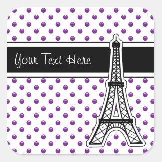 Purple Monogram Stickers