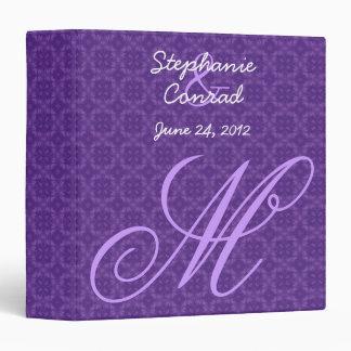 Purple Monogram Wedding Planner V15 Binder