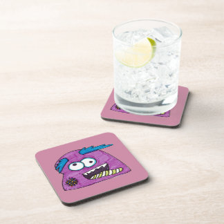 Purple monster beverage coaster