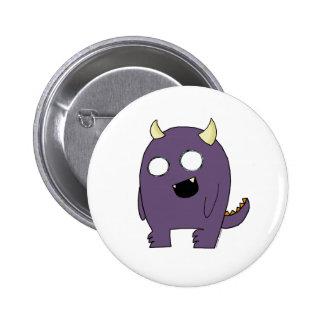 Purple Monster Pinback Buttons