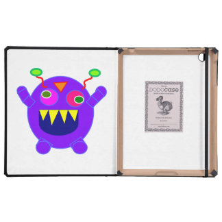 Purple monster cartoon iPad cases