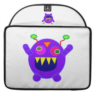Purple monster cartoon sleeves for MacBook pro