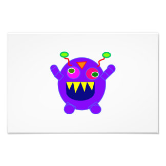 Purple monster cartoon photo